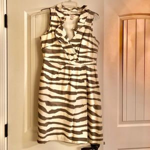 J Crew zebra striped dress
